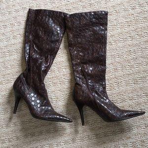 Jessica Simpson aliigator like tall boots sz 8.5